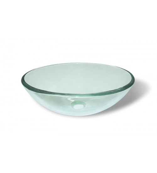 Lavabo ovalin de cristal redondo transparente - Lavabo de cristal ...